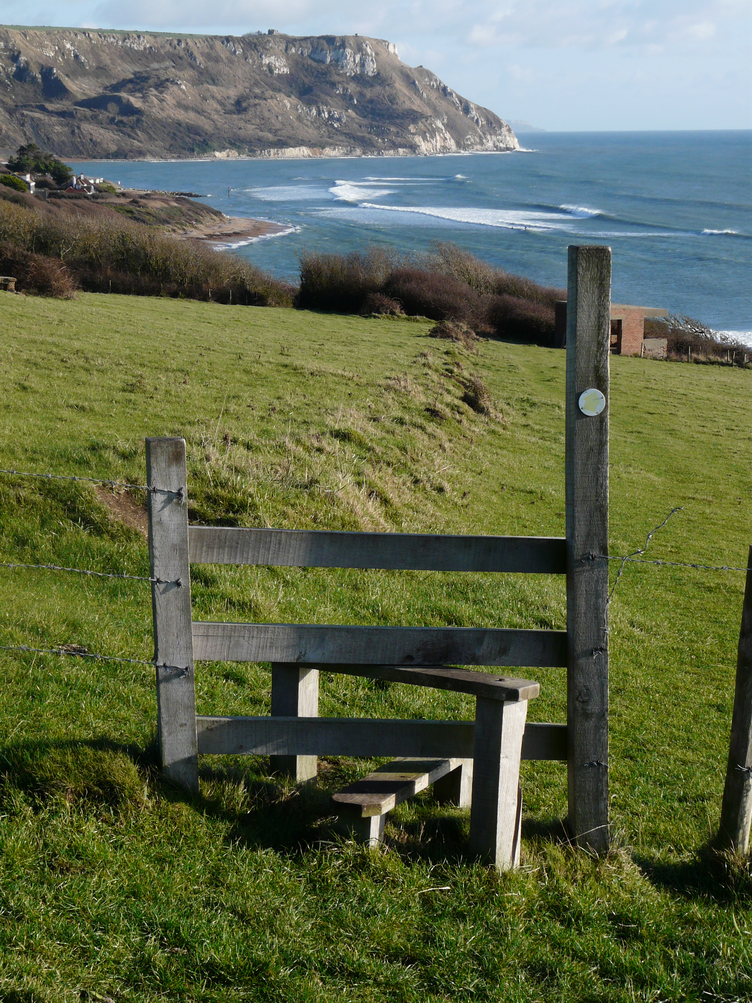 South West Coast Path at Ringstead Bay