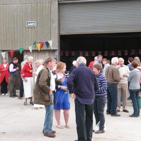 Launceston Farm royal wedding barn aprty