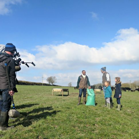 cbeebies filming down on the farm at Launceston Farm